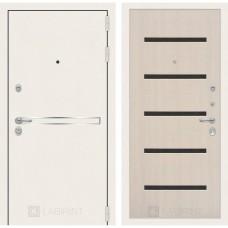 Стальная дверь Лабиринт LINE WHITE 01 (внутренняя панель на выбор)