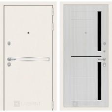 Стальная дверь Лабиринт LINE WHITE 02 (внутренняя панель на выбор)