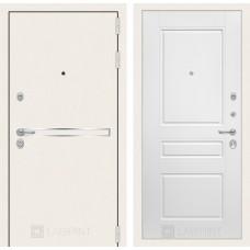Стальная дверь Лабиринт LINE WHITE 03  (внутренняя панель на выбор)