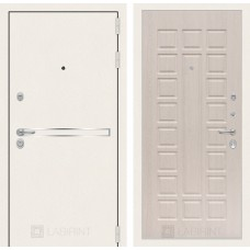 Стальная дверь Лабиринт LINE WHITE 04  (внутренняя панель на выбор)