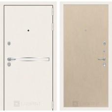 Стальная дверь Лабиринт LINE WHITE 05 (внутренняя панель на выбор)