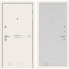 Стальная дверь Лабиринт LINE WHITE 06 (внутренняя панель на выбор)