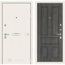 Стальная дверь Лабиринт LINE WHITE 10 (внутренняя панель на выбор)