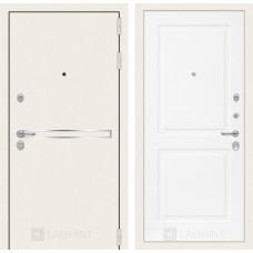 Стальная дверь Лабиринт LINE WHITE 11 (внутренняя панель на выбор)