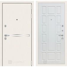 Стальная дверь Лабиринт LINE WHITE 12 (внутренняя панель на выбор)