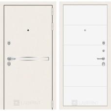 Стальная дверь Лабиринт LINE WHITE 13 (внутренняя панель на выбор)