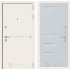 Стальная дверь Лабиринт LINE WHITE 14 (внутренняя панель на выбор)