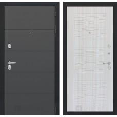 Входная дверь ART графит 06 - Белое дерево