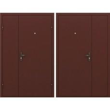 Тамбурная дверь Эконом STEEL - металл (двухстворчатая)