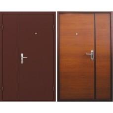 Тамбурная дверь Эконом 125 - орех (двухстворчатая)