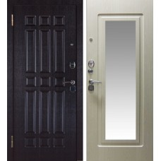 Дверь Кватро зеркало Беленый дуб
