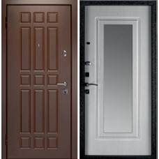 Заводские  двери  Кватро зеркало