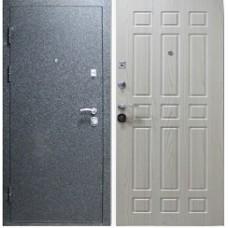 Заводские двери Лайт 3К - черный бархат/беленый дуб