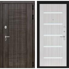 Входная дверь Сканди Дарк грей 01 - Сандал белый